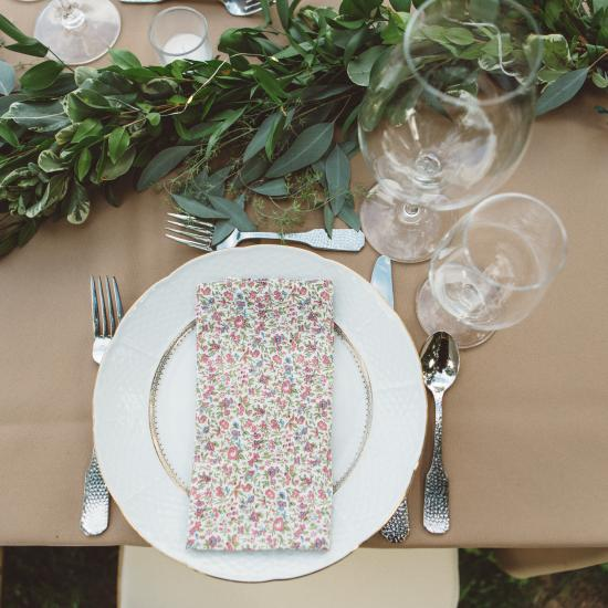 Garland with Lovely Vintage Detailed Place Setting