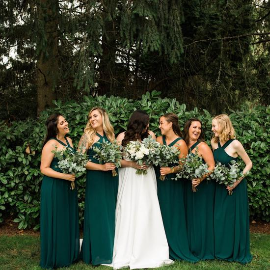 Hand tie bouquet, all greenery hand tie bouquets